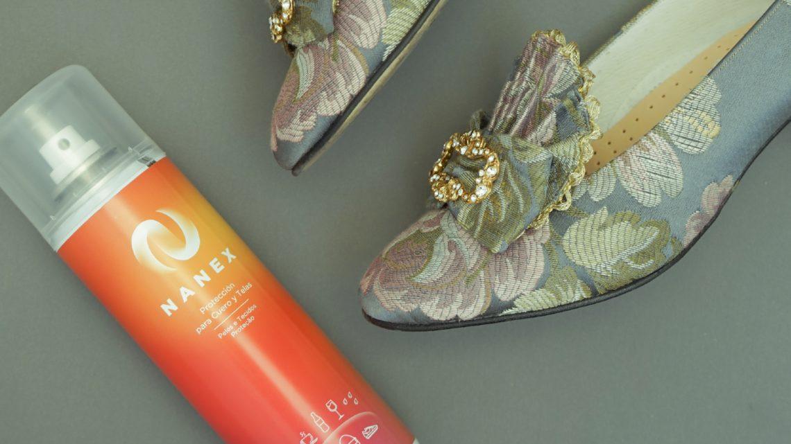 Protege tus zapatos de fallera con Nanex, el producto impermeabilizante antimanchas